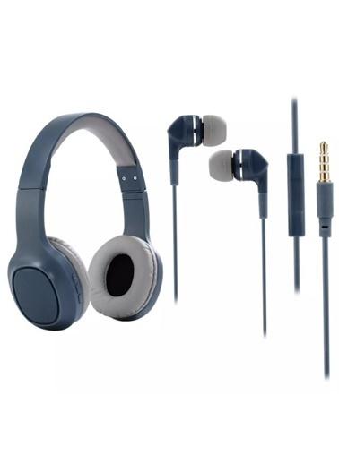 Platoon PL-2093 Bluetooth+Mp3 Kulaklık Mavi